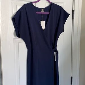 NTW navy wrap dress